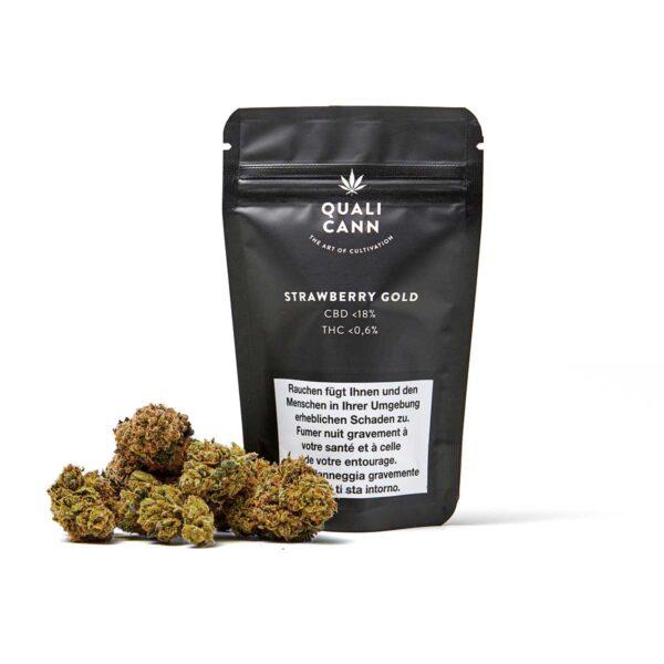CBD Blüten - Qualicann Strawberry Gold